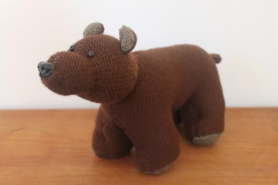 Handmade Knitted Brown Bear