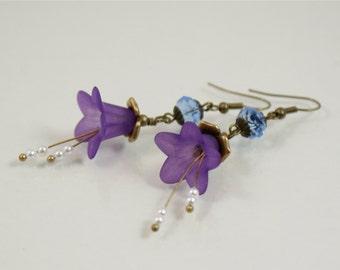 SPRING Flower Earrings, Romantic, Springtime, Flowers, Spring jewelry, Spring Awakening