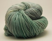 "Sock or Fingering Yarn: Blue, Green and Grey - ""Sea foam"""