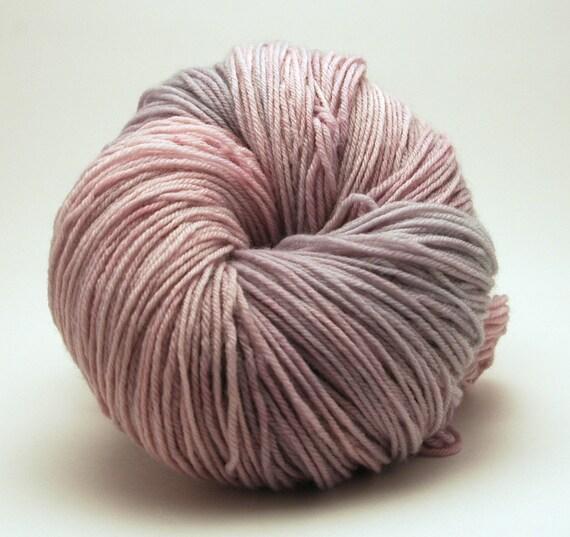 "Sock or Fingering Yarn: Purple and Grey - ""Silver Pony Mane"""