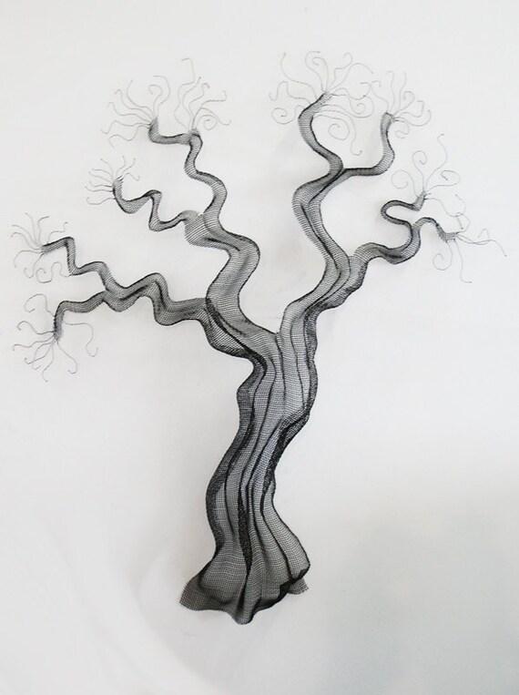 Wire Mesh Tree Sculpture