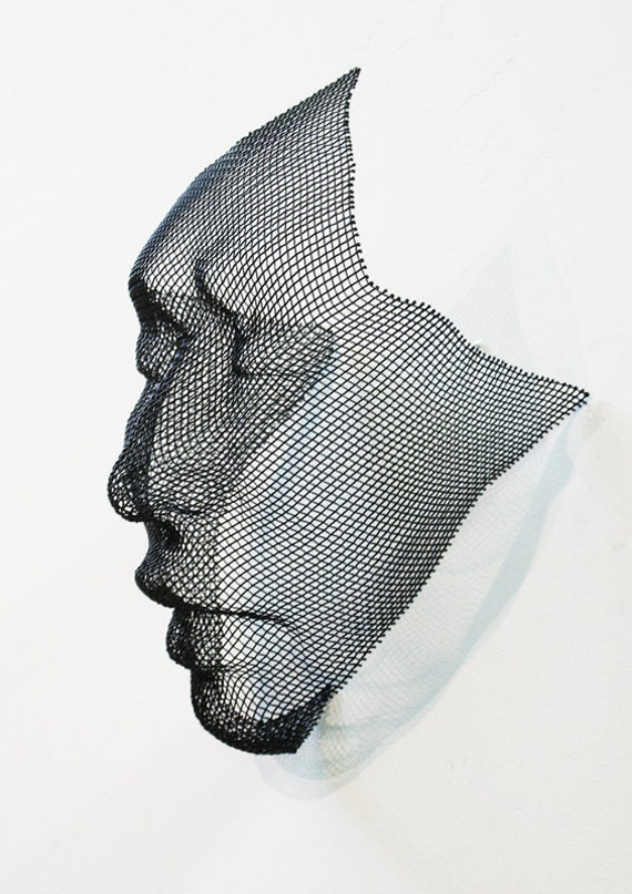 powder coated steel wire mesh wall hanging face