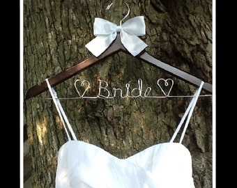 HUGE SALE Personalized Custom Bridal Hanger, Brides Hanger, Bride