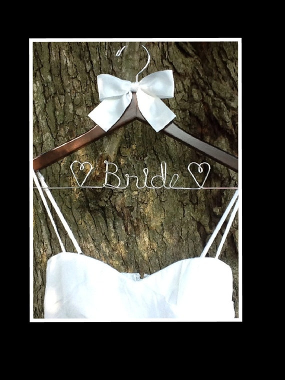 HUGE SALE SALE/ Wedding Hanger / personalized / natural finish / cherry finish / wire hanger/ personalized / bridal party