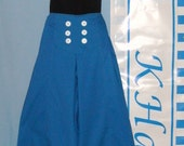Royal Blue Sailor Pants Size 12
