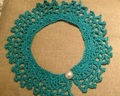 green crochet collar