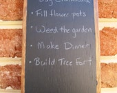 Natural Reclaimed Oak Wooden Fenceboard Rustic Wood Chalkboard Tablet for Kitchen, Wedding, Bar, Office - Large
