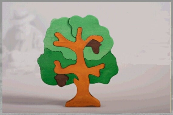 "Wooden puzzle   "" Tree"", Smart ECO TOY"