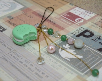 Green Cookie with white cream phone accessories