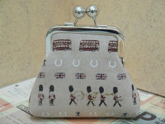Ready to Ship Double sided design with England Marching soldiers mini clutch purse