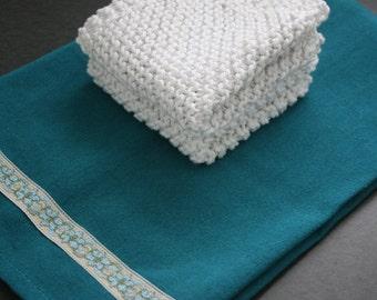 Tea towel and dishcloth set
