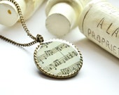 SING bronze necklace in black and white note sheet europeanstreetteam