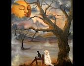 Sleeping Moon 16x20