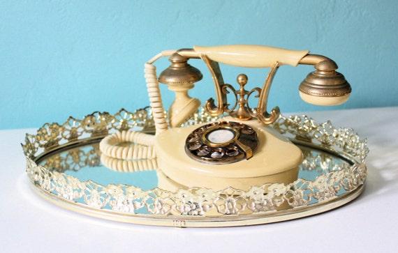 """Shabby Chic Rotary Telephone """"Cutie"""""""