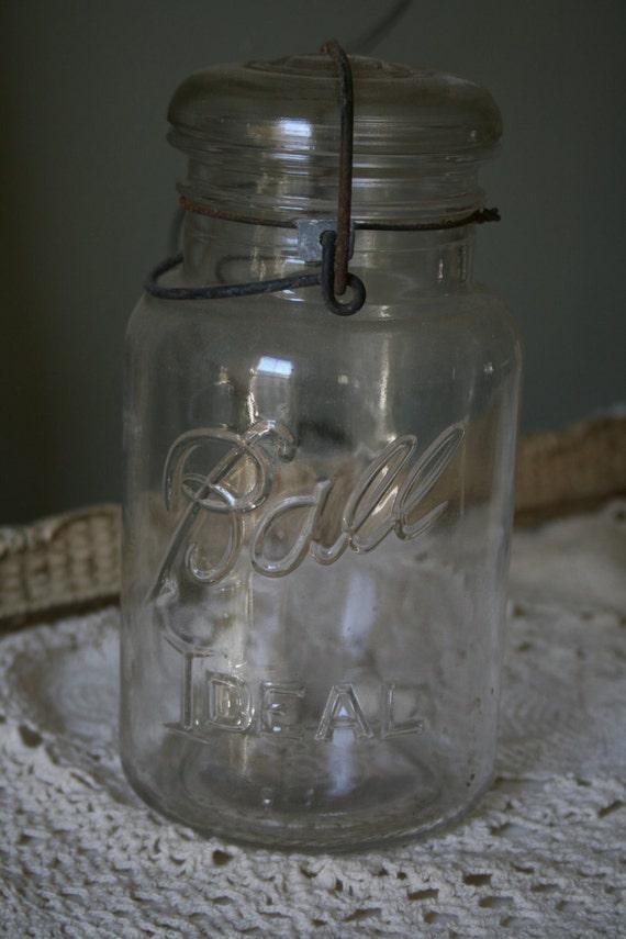 Set of 5 ball jars, masnon jars, canning jars, wedding