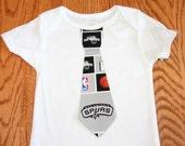San Antonio Spurs  Boys Tie Onesie Or Shirt - NBA