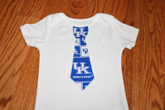 Kentucky Wildcats boys onesie or shirt wth tie - add leg warmers - wildcats basketball - kentucky football