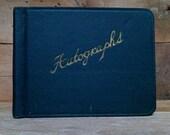 vintage autograph book unused
