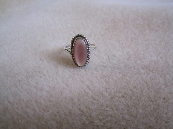 Navajo Mother of Pearl Sterling Silver Ring