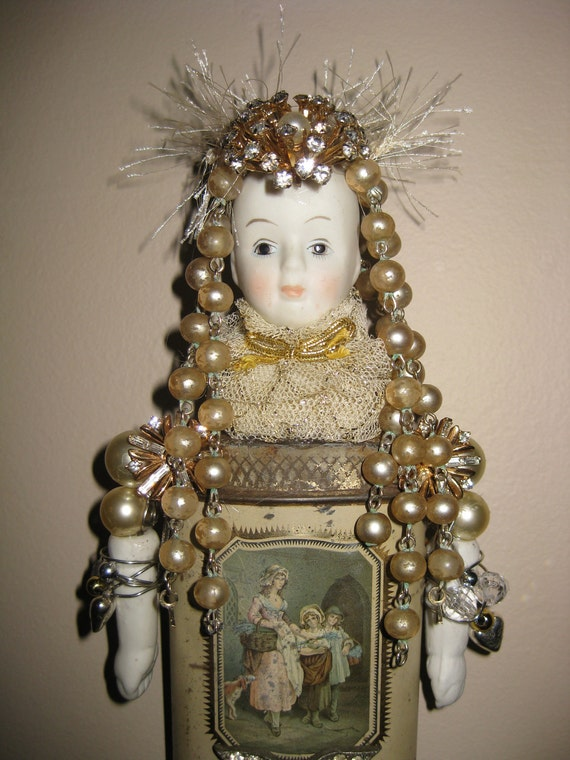 Bald is Beautiful / Queen of Everything - Save The TaTa's - Wall Doll -  Assemblage