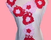 Hearts scarf Valentine's red and pink
