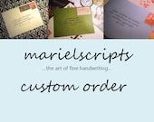 CUSTOM ORDER for Rebecca Hall Sample Envelope Calligraphy