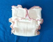 New born fitted cloth diaper 100% unbleached hemp