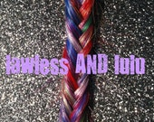 F I S H T A I L  rainbow braid/ BOLD dyed/ human hair extensions/ weft clip in/ free people style braid/ READY to SEND