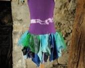 Beautiful Mermaid costume, ocean fairy dress Age 7 - 8 yrs, purple, mauve & blue peacock fairy costume, ballet tutu