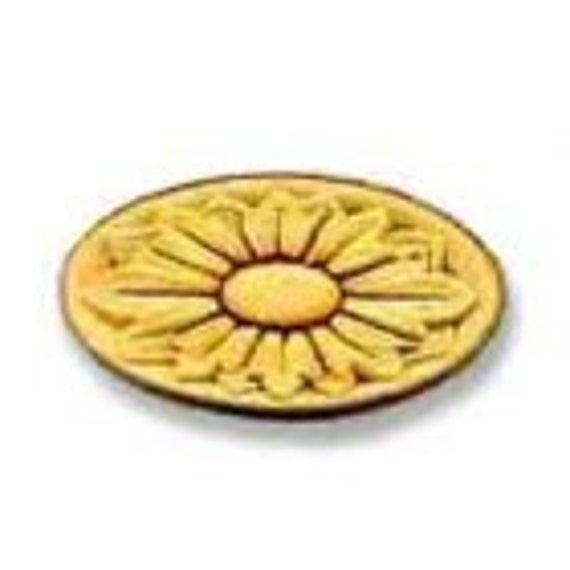 Birch Applique -Flower Medallion Oblong