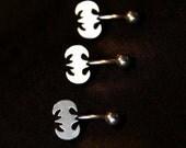 14G Stainless Steel Batman Belly Navel Ring