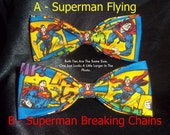 BowTies Made From DC Comics Superman Fabric - These Super Fun Ties are Full of Action and Super Color - U.S.SHIPPlNG As ALWAYS ONLY 1.49