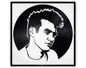 Morrissey- The Smiths- Vinyl Record Portrait