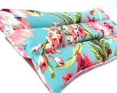 Natural Heating Pad, Herbal Heating Pad, Amy Butler Love Bliss Bouquet Teal