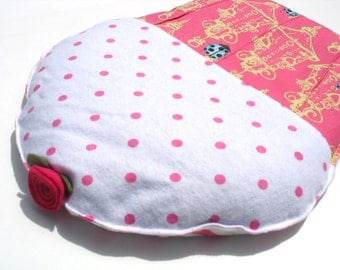 Herbal Heating Pad, Hot Cold Pack, Ladybug Bug Polka Dot Cupcake Hot Compress, Hot Pink CrampCake