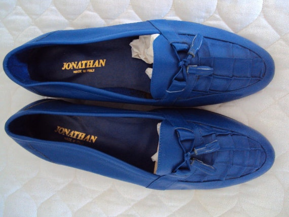 Dapper dude shoes - Vintage, never worn, men's Italian leather loafers