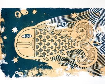 Feel Flows, Original screenprint -  50x70 cm - Water based ink - Limited edition