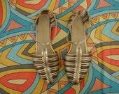 Vintage Enzo Angiolini Metallic Strappy Sandals Size 8