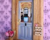 Fairy Door - Shabby Chic Gray Door - Sunlit Foyer