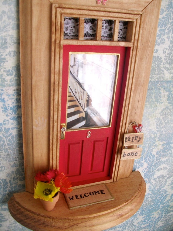 Fairy Door - Red Door - Foyer w/Zebra Rug