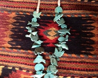 Sale - Old Pawn Native American Fetish Necklace with Indian Wrap