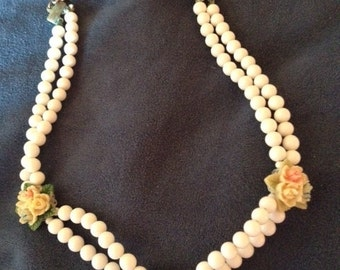 REDUCED..Delicate Vintage China Necklace Marked Japan