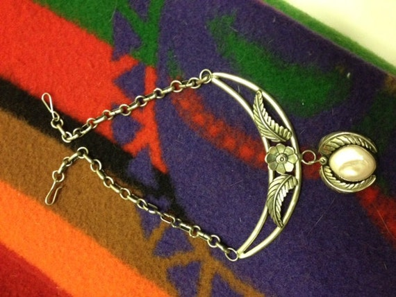 Reserved for Coo -Vintage Sterling Silver & Pink MOP Native American Necklace