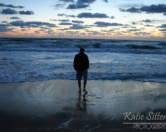 SALE Beach Sunrise, Solitude, Nags Head North Carolina Photo Art, 8x10, Framed Photography Option