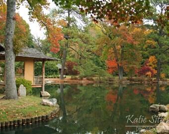 SALE Fall Foliage Virginia Landscape at Maymont Park in Richmond Va. Photo Art, Framed Photography Option