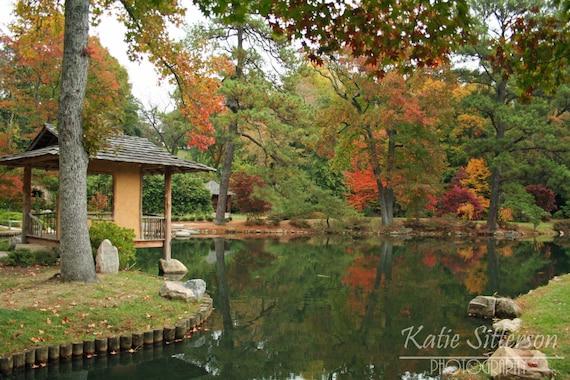Fall foliage virginia landscape at maymont park in richmond va photo