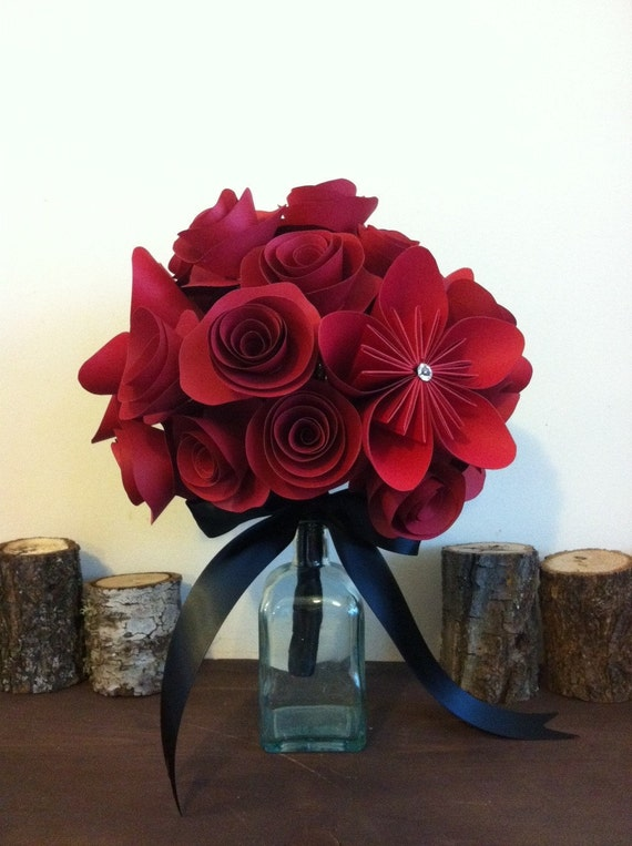 Special Order for Amanda, ruby slipper paper bouquet