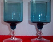 Lot of Two Robins Egg Blue Glasses