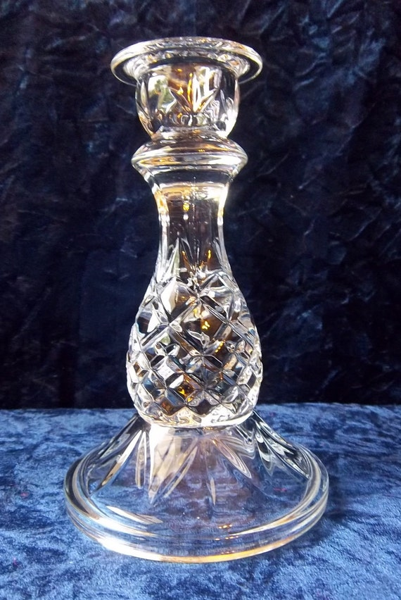 Crystal Clear Pineapple Cut Glass Candle Holder