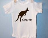 Custom Kangaroo Baby Onesie